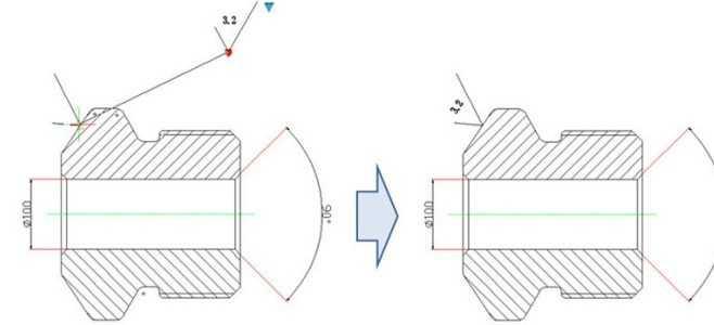 利用CAD动态块创建粗糙度符号(可自动对cad层随随块图片