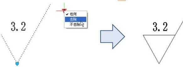 利用CAD动态块创建粗糙度符号(可自动对cad尺寸电梯间图片