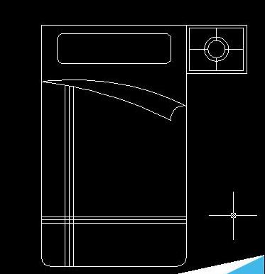 cad床及床头柜平面图的画法图片