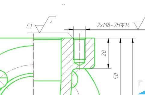 CADv深度深度标注沉孔锥度符号斜度尺寸cad设置将当前为标注图片