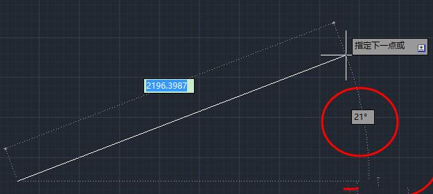 CAD画直线时做到精确v直线与水平线的夹八人餐桌cad图图片