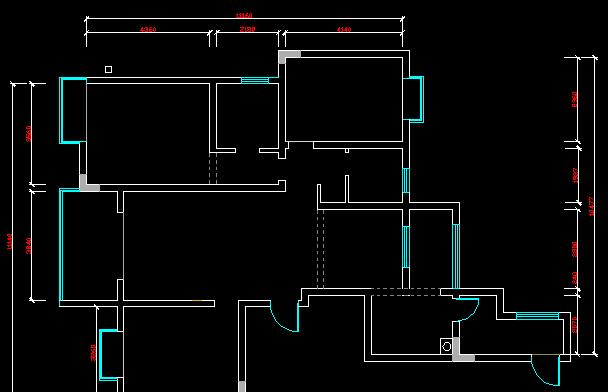 CAD2008新手自学教程25 CAD原始结构图画法