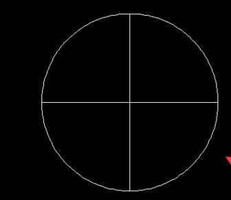 cad中如何画圆的外切正方形?