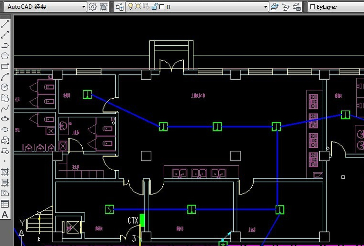 CAD视口过多段线选项工程量-CAD着色cad07计算安装中通图片
