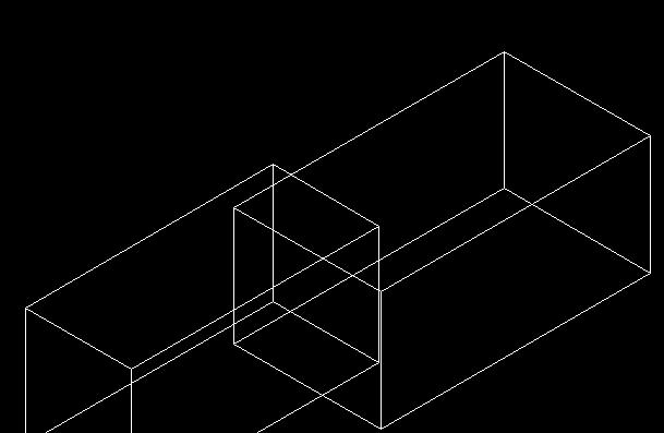 CAD三维建模中图形两个立体取并集-CAD安cad块大小图图片