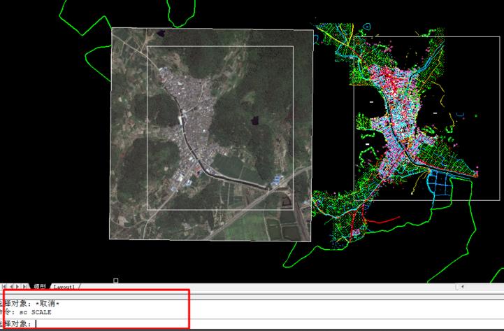 cad地形图和卫星地图快速无差别混合拼接