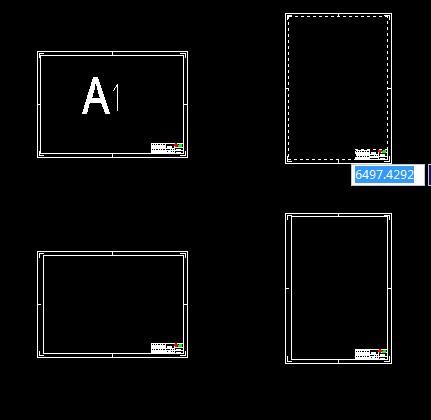 标准cad图框模板设计图