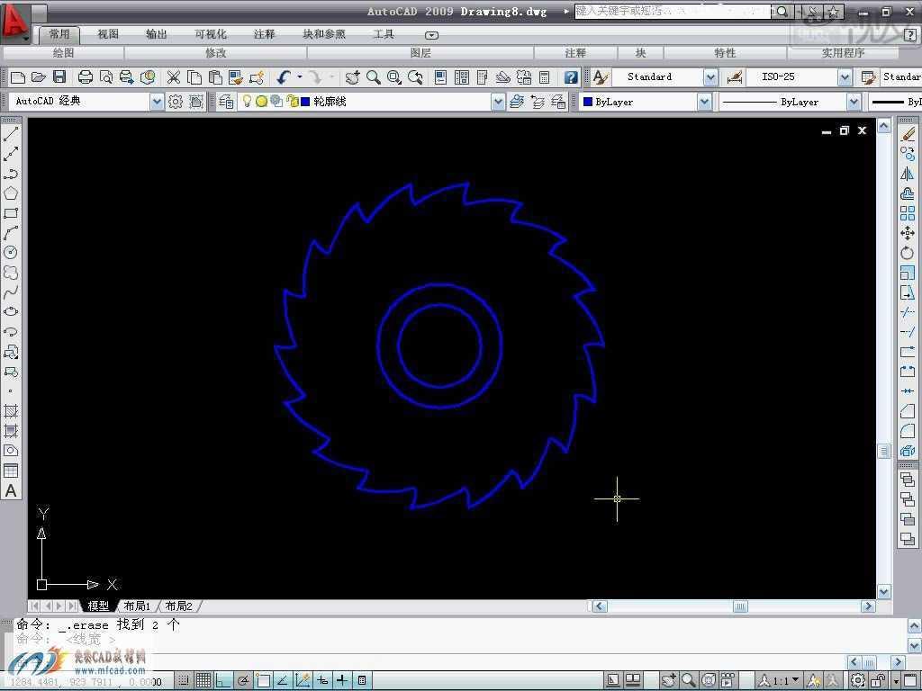 CAD2009铣刀平面图的绘制教程免费下载 AutoCAD机械与建筑绘图教程
