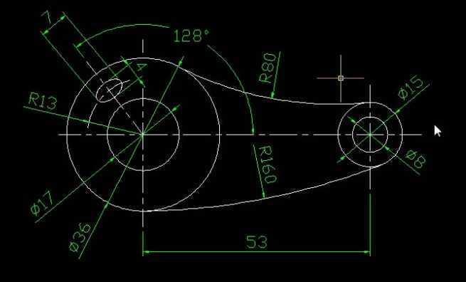 视频简介: 本例绘制了一个简单的机械零件平面图,运用到的知识点有:直线、圆弧、椭圆的绘制,图形的修剪,对象捕捉追踪的应用,图形的线性标注、半径、直径标注,以及角度标注,图层的切换,调整中心线长度的方法等等。 音频:有 视频时长:10分51秒 视频内容: 1、首先对图形的组成进行分析,得出大体的绘制思路。 2、切换到电话线层,重复用直线命令绘制中心线,适当使用对象捕捉追踪。 3、切换图层,重复利用圆命令绘制图中的各个圆,调整中心线长度。 4、重复利用相切相切半径法绘制圆,并进行修剪,得到图中的相切圆弧。 5