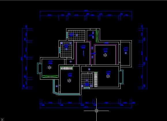 cad2009绘制顶棚平面图教程