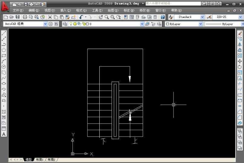 cad2009绘制楼梯平面图教程