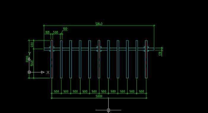 cad2009绘制花架平面图教程