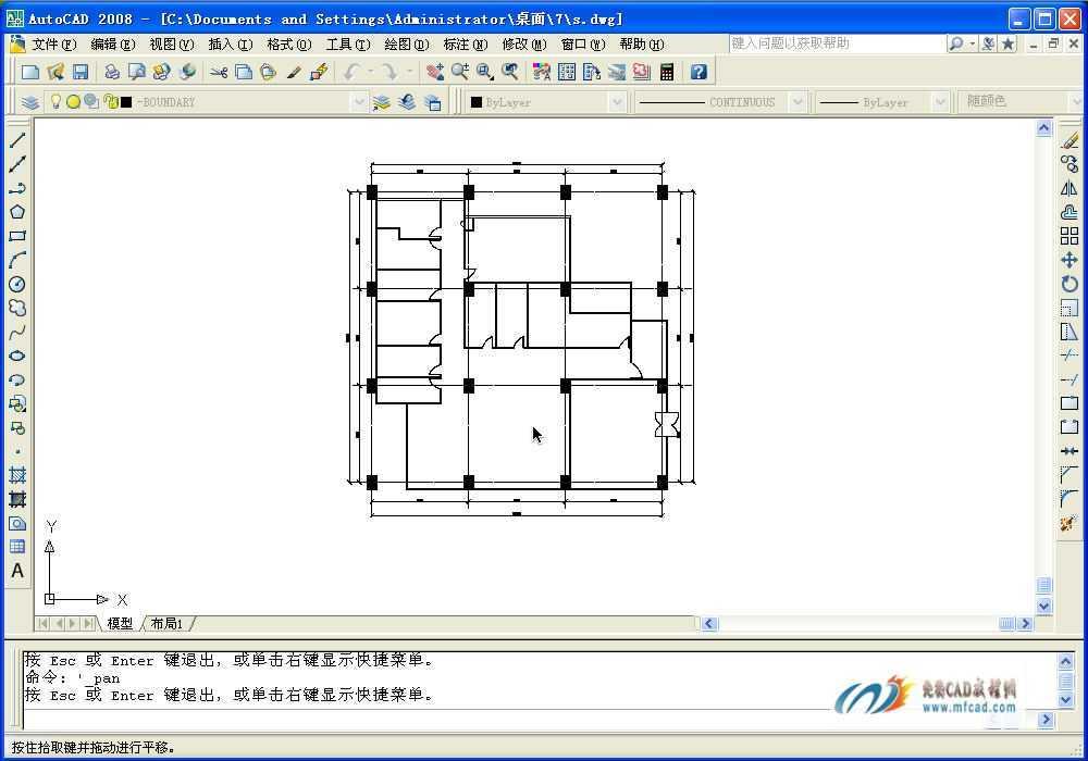 办公空间装修前建筑平面图高清图片