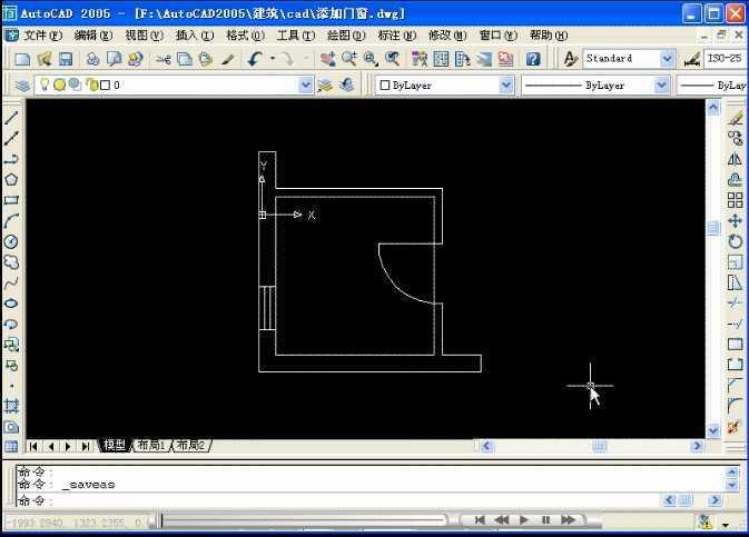 cad2007为墙体平面图添加门窗免费下载