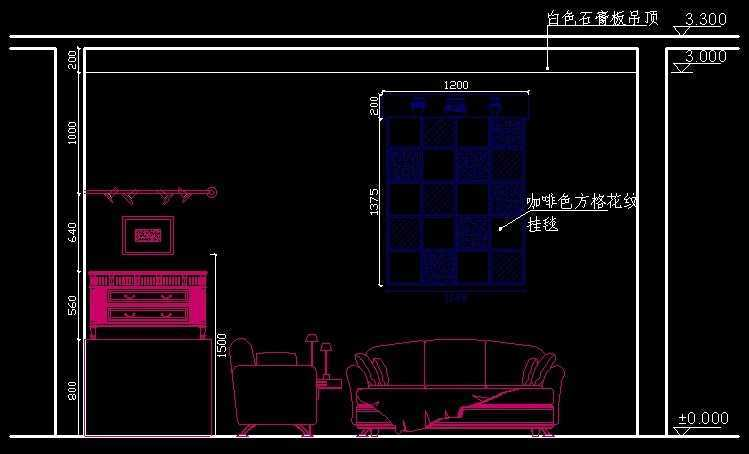 室内设计店面立面图建筑客厅线免费下载-绘制轮廓长形甜品装修设计图片