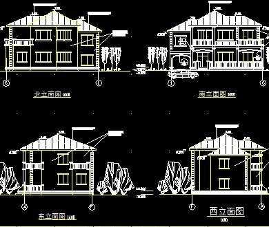 别墅建筑施工图纸免费下载