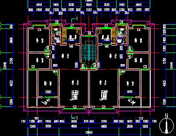 单元式住宅标准层平面图免费下载 建筑户型平面图