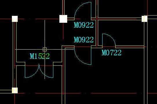 CAD2005两扇平开门的绘制免费下载-AutoCAcad转pdf文字变形图片