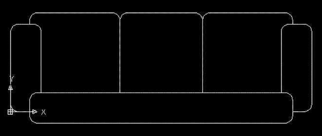 cad绘制沙发平面图教程