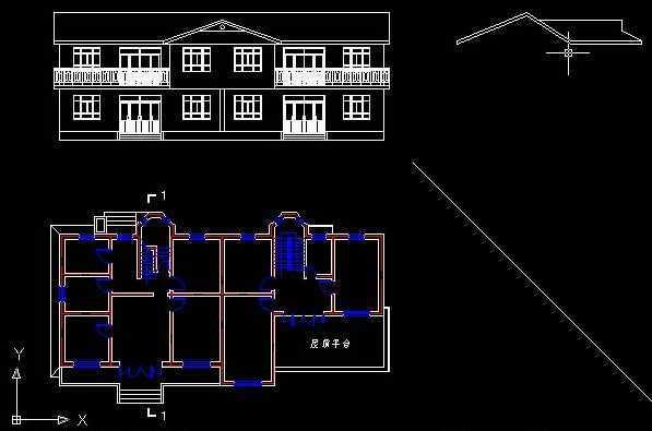 CAD绘制视图足球屋顶别墅免费下载-AutoCA教程vi设计素材图片