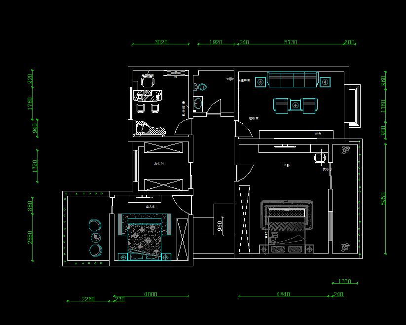 住宅户型平面布置图免费下载 AUTOCAD室内装潢设计完美技法 -住宅高清图片