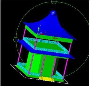 望江亭造型CAD三维视频实例阁楼弯头免费下cad里教程方管圆管的表示和弯头图片