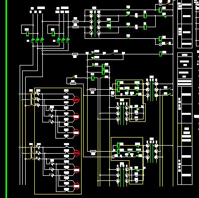 1600kva高低压配电柜电气接线图