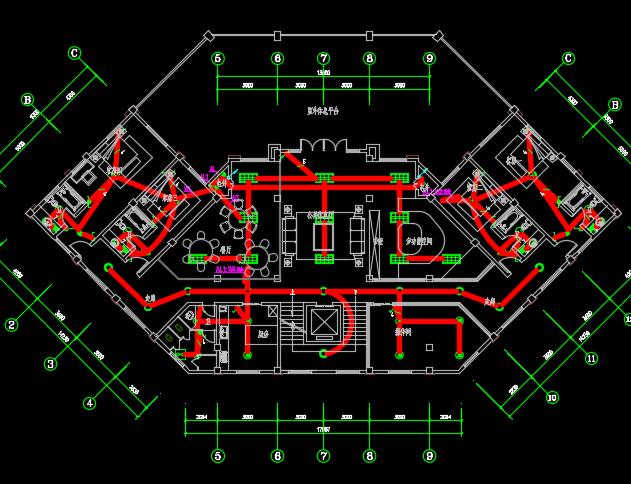 四层学校公寓电气施工图纸
