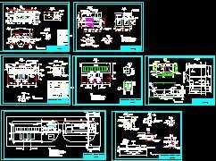 35kV变电站电气一次二次设计图免费下载亚克力板班牌设计图图片