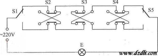 双联双控开关接线图