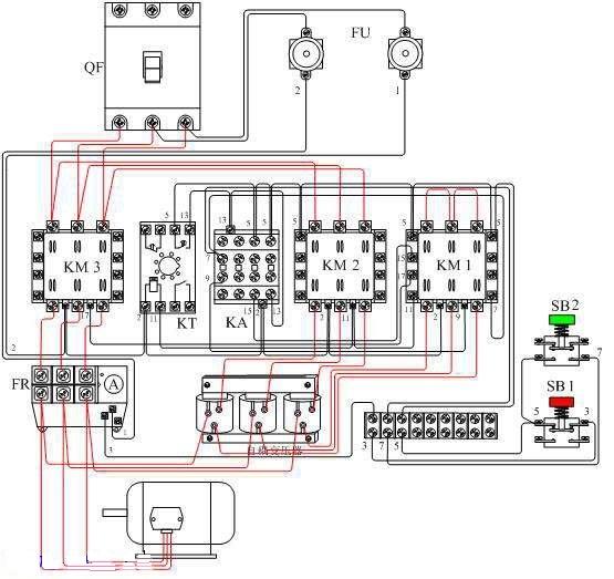 电动机自耦降压启动 自动控制电路图片