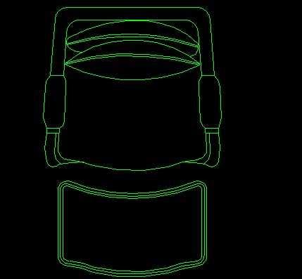cad椅子凳子平面设计图免费下载