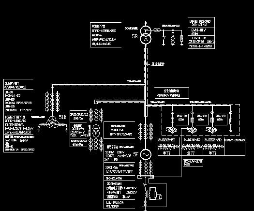 30万机组电气主接线图