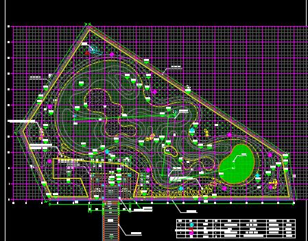 高尔夫球场水电施工图纸