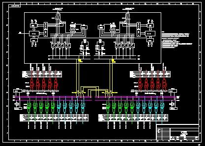 全厂总配电室一次接线图