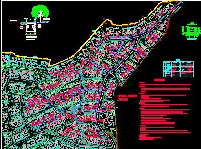 别墅区电气规划总平面图