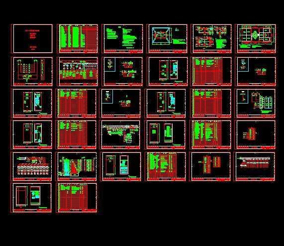 500kva箱式变电站全套设计图