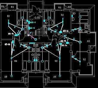 六层公寓楼电气照明平面图纸