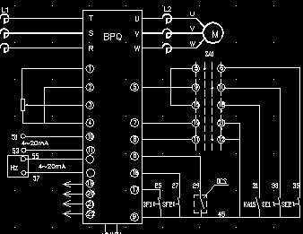 变频调速电机控制原理图