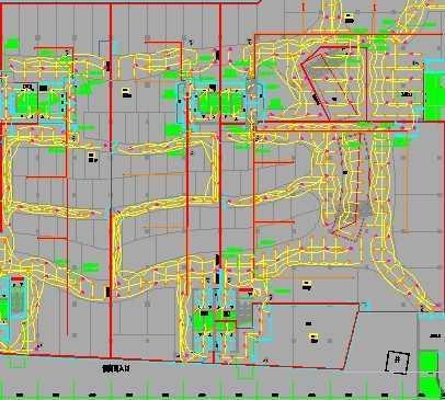 广州一大型地下商场照明平面图