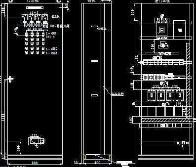 低压柜布置和二次接线图