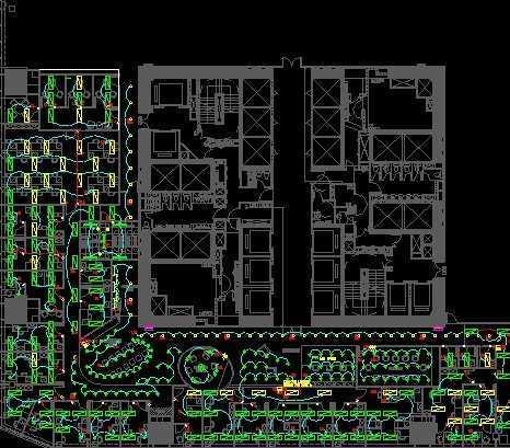 商业办公室电气设计平面图