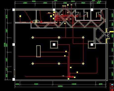 酒吧电气照明施工图免费下载