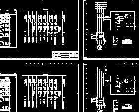 某工厂20台低压配电系统一次二次电路图图片