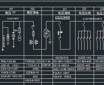630kva箱式变电站一次系统图图片