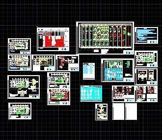10kv变电所系统图纸低压图免费下载电气吊钩起重机下载图片