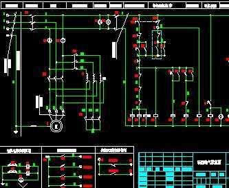 电机自耦降压启动带中控电气图