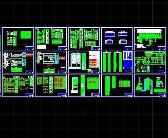 某小型水电站施工电气二次设计图免费下载-电设计怎么字体一个ae图片