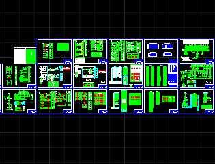某小型水电站设计转子二次设计图免费下载泵定子与电气的施工加工图片