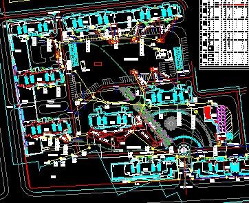 小区路灯敷设电气施工图